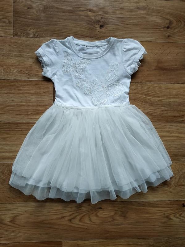 Красивое платье с бабочками