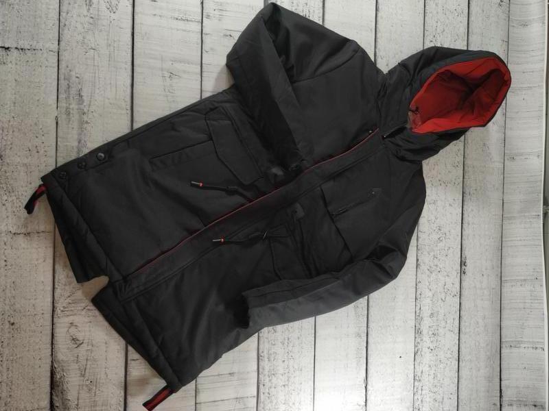 Куртка удлиненная парка с капюшоном зимняя enos