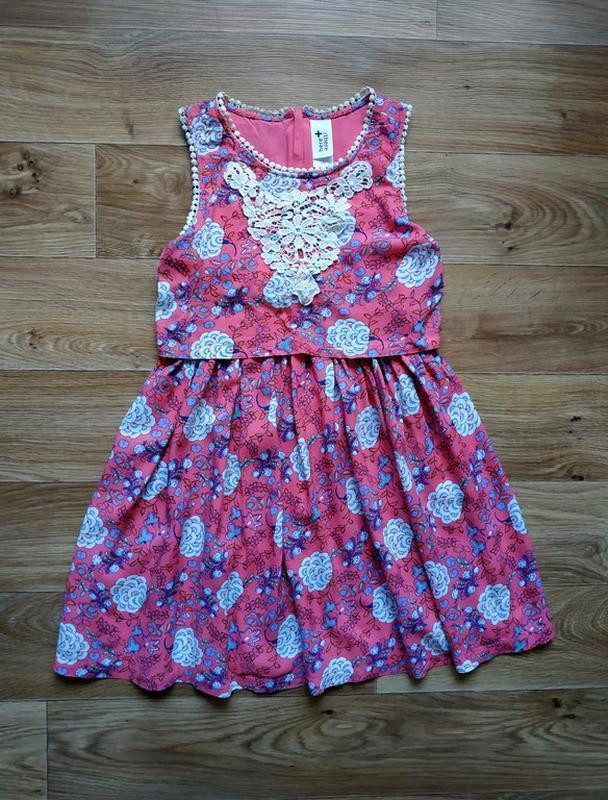 Красивое платье в цветочками