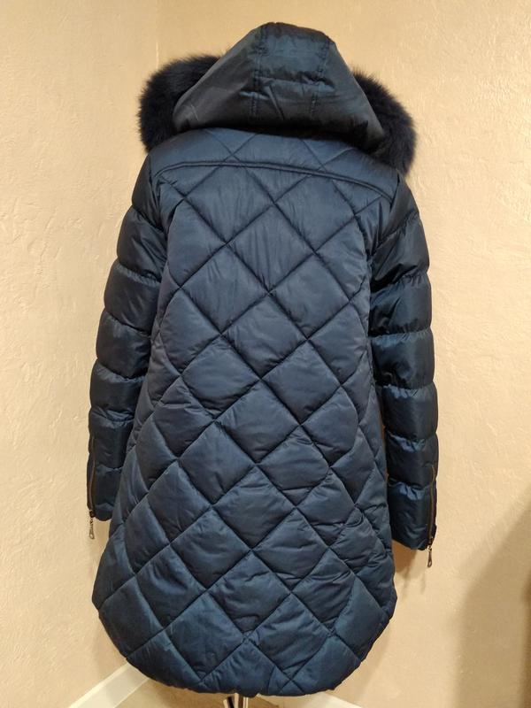 Зимняя куртка с натуральным мехом 46