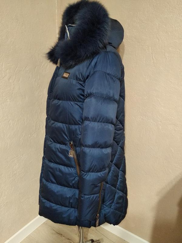 Зимняя куртка с натуральным мехом 46 - Фото 2