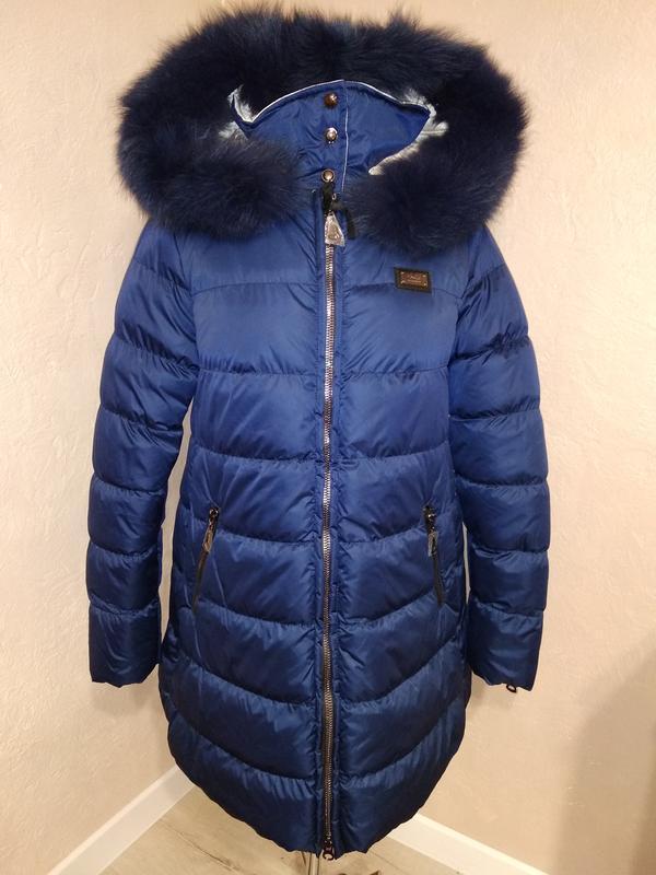 Зимняя куртка с натуральным мехом 46 - Фото 3