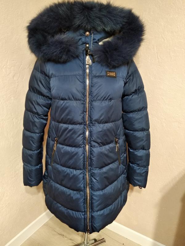 Зимняя куртка с натуральным мехом 46 - Фото 4