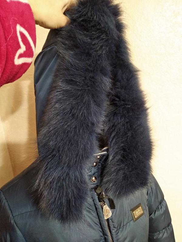 Зимняя куртка с натуральным мехом 46 - Фото 5