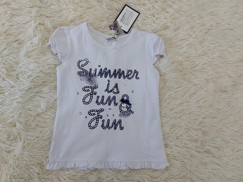 Детская футболка для девочки Fun&Fun 4-5 лет, новая