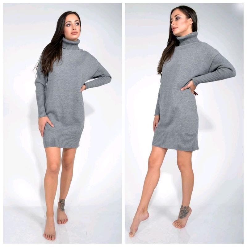 Платье теплое шерсть