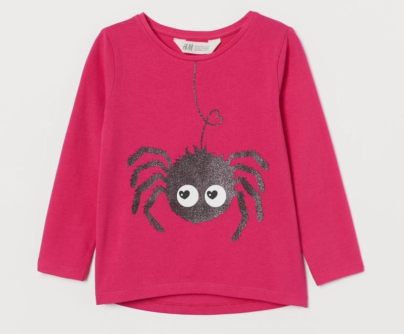 H&m кофточка с пауком для девочки
