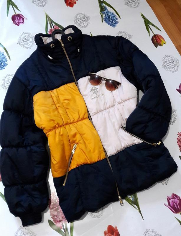 Дутая теплая куртка с высокой горловиной от sportalm
