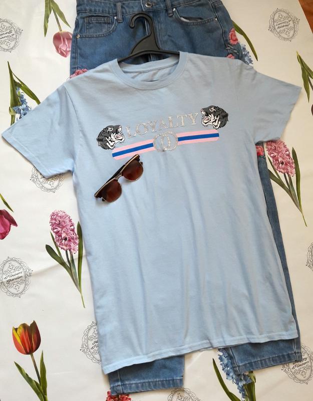 Классная хлопковая футболка с принтом