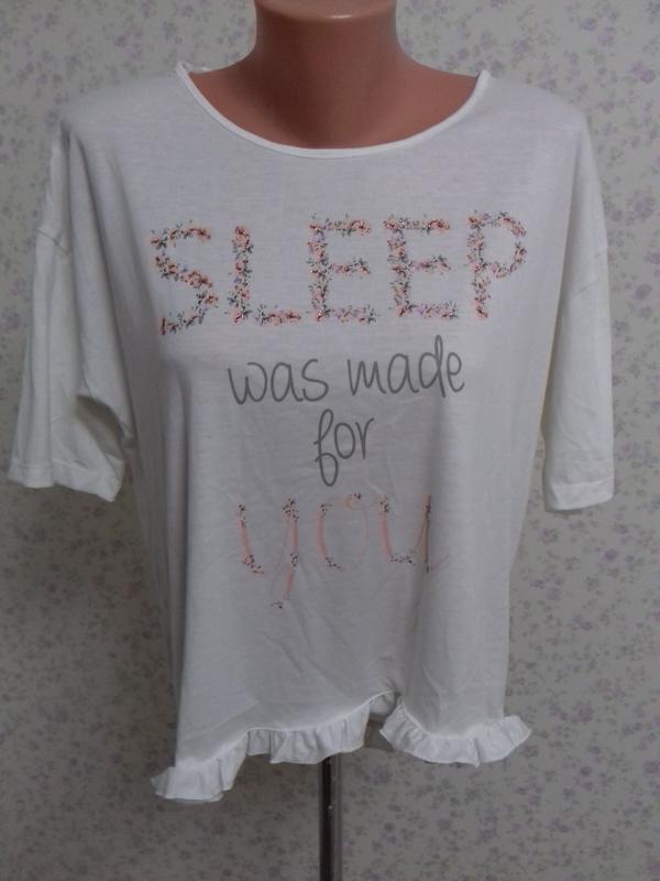 Очень милая футболочка для сна р.10✔