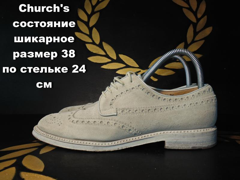 Church's туфли(броги) женские размер 38