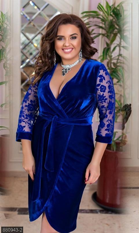 Шикарное вечернее платье велюр кружево