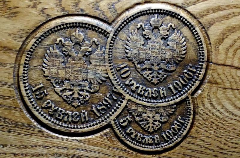 3Д модель монеты 5 рублей 1906 года - Фото 2