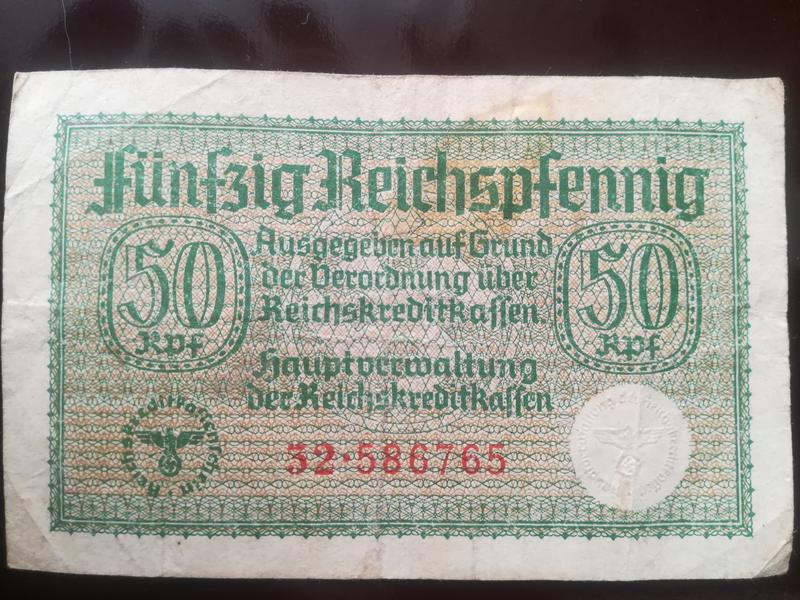 50 Reichspfennig. Третий рейх.