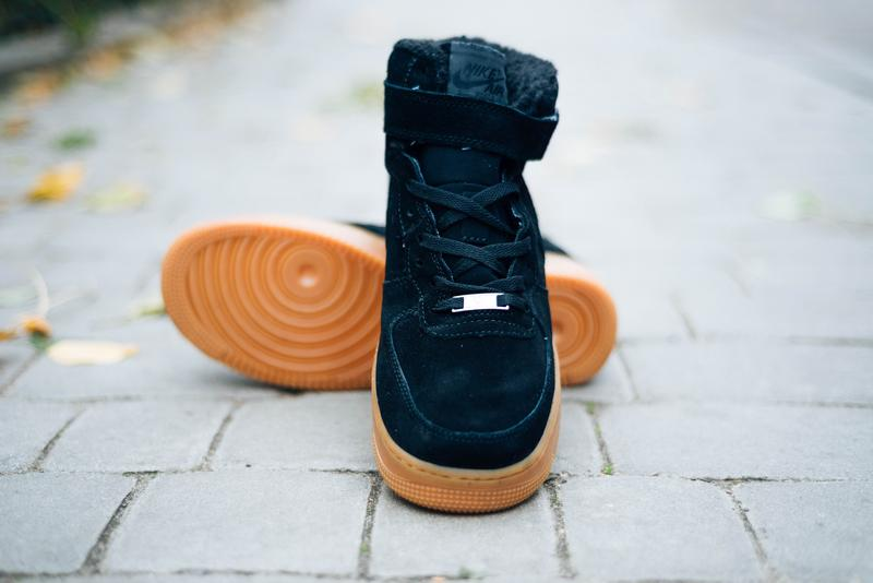 "Зимние мужские кроссовки Nike Air Force 1 High ""Black Gum"" Winter"