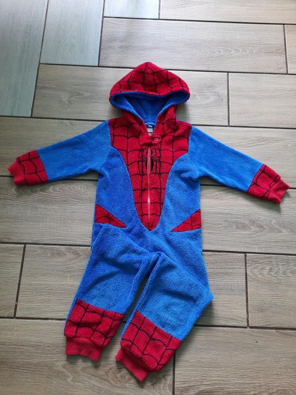 Кигуруми слип пижама человек паук 4-5 лет