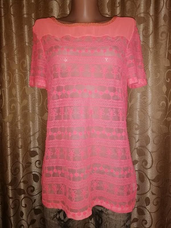 🌺🎀🌺новая! красивая женская кружевная футболка, блузка kelyna p...