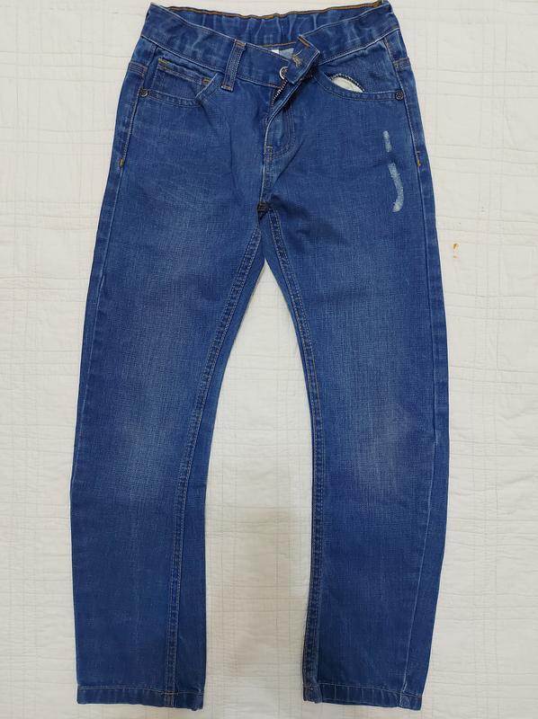 Классные джинсы на мальчика р. 128-134/хлопок