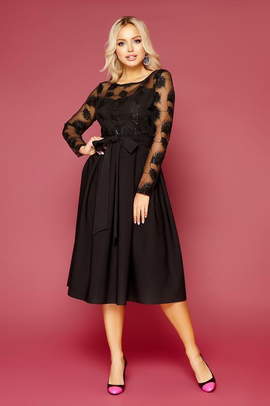 Шикарное нарядное платье длины миди