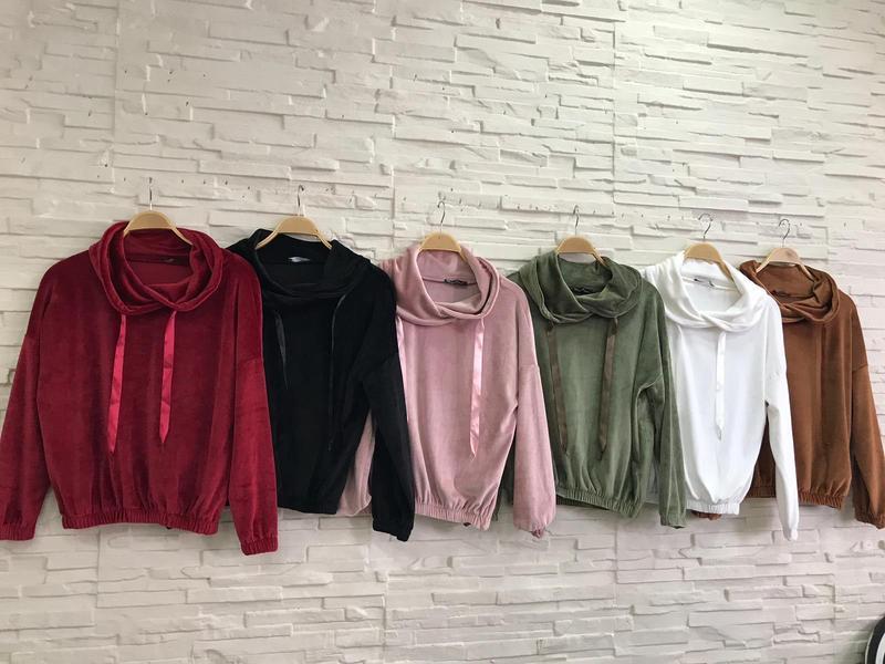 Кофта женская, свитер велюровый . ткань: велюр. - Фото 2