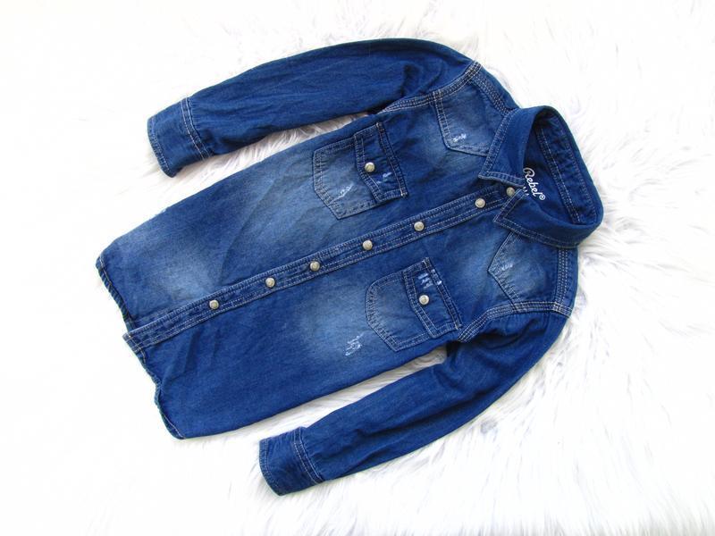 Качественная и стильная джинсовая рубашка rebel.