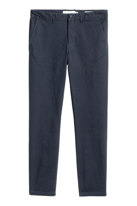 Темно-синие брюки / чиносы h&m , skinny fit !