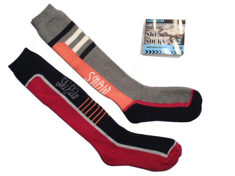 Набор 2 пары - теплые махровые лыжные высокие носки - нидерлан...
