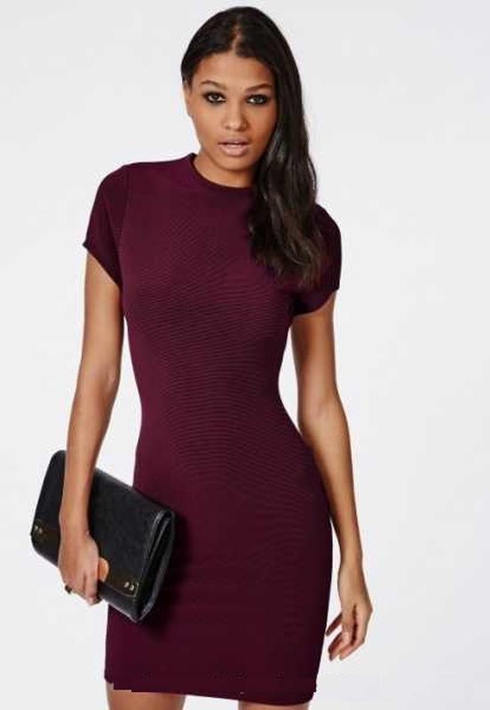 Платье из буклированого трикотажа new look