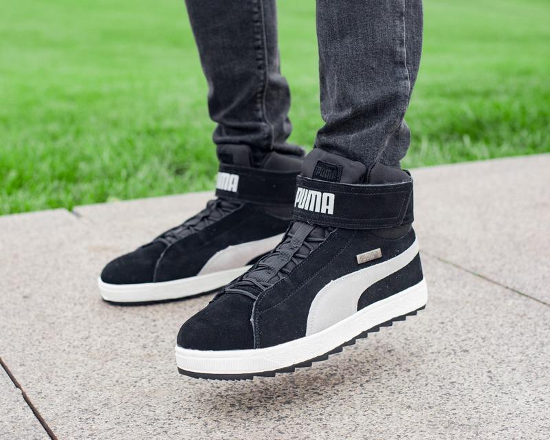 ✳️puma platform black white winter✳️зимние мужские кроссовки п...