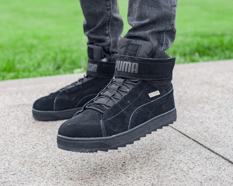 ✳️ puma platform winter black✳️мужские зимние чёрные кроссовки...