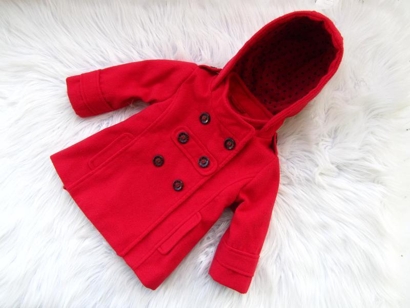 Стильная пальто  куртка с капюшоном next