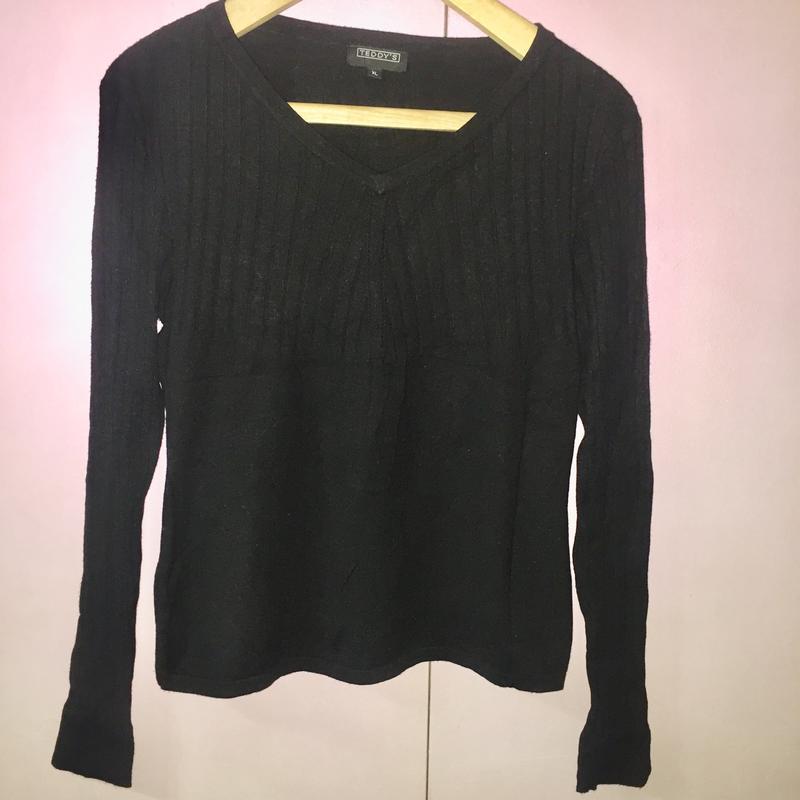 Чёрный базовый свитер