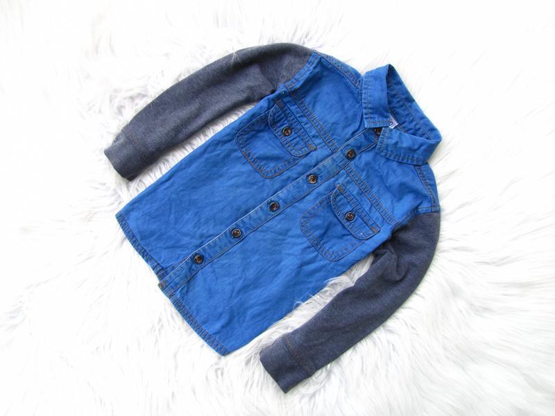 Качественная и стильная джинсовая рубашка кофта mini club