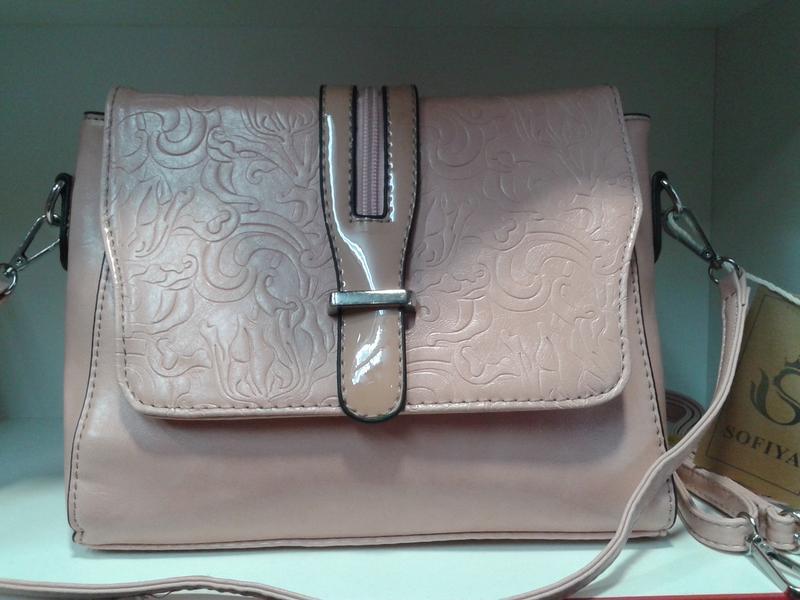 Женская сумочка - клатч нежного пудрового цвета