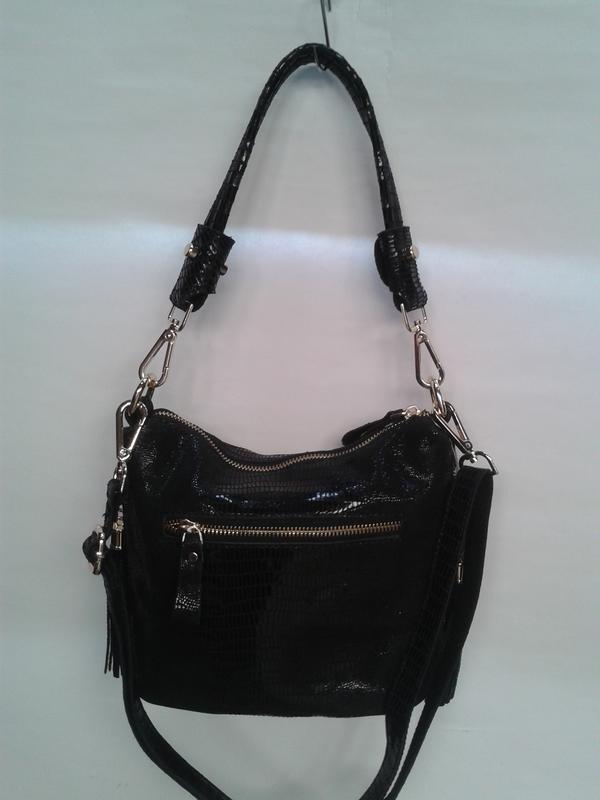 Стильная мягкая женская сумочка кросс боди из натуральной кожи...