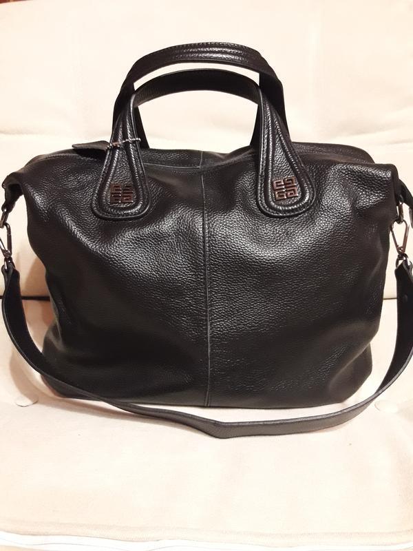 Большая женская  сумка из натуральной кожи