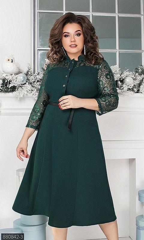 Шикарное  платье с пуговками большие размеры