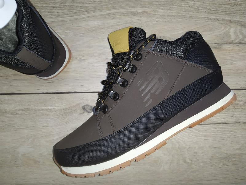 Зимние ботинки new balance кожа зимові мужские кроссовки