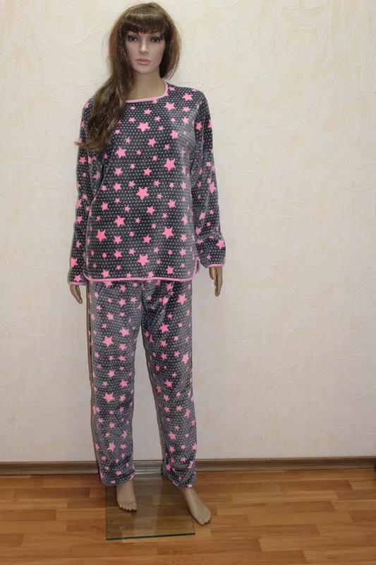 Женские теплые махровые пижамы
