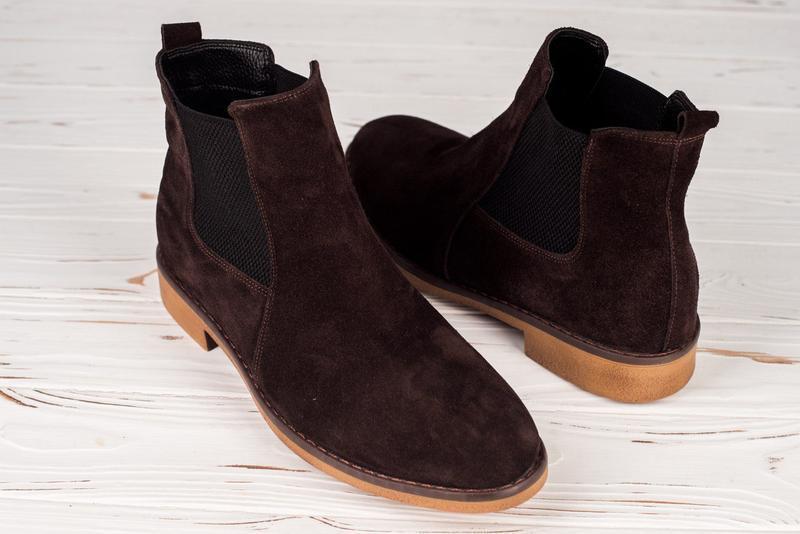 Зимние челси zara man, замшевые туфли/сапоги/ботинки с мехом
