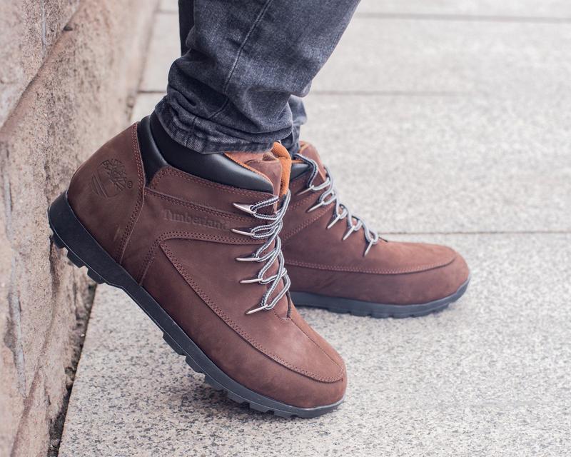 🍁timberland brown🍁кожаные мужские ботинки тимберленд, коричнев...