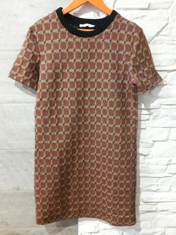 Базовое платье zara trafaluc с люрексом
