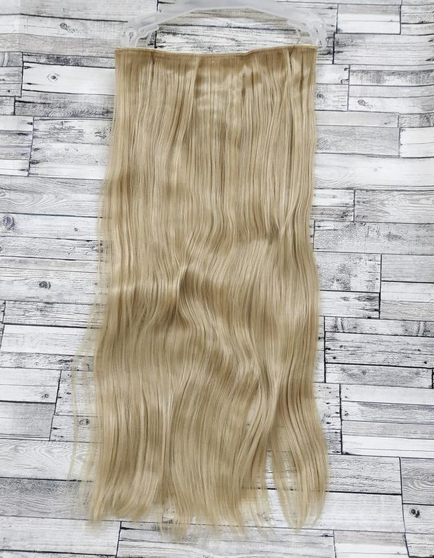 Трессы волосы на заколках лента с клипсами блонд 5клипс №24/61...