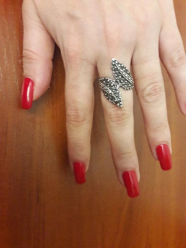 Кольцо листья, серебро 925пробы, украина
