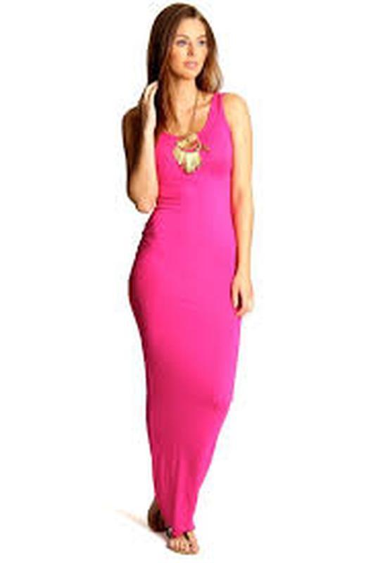 Кораловое платье майка в пол 46-48р ( евро 14)