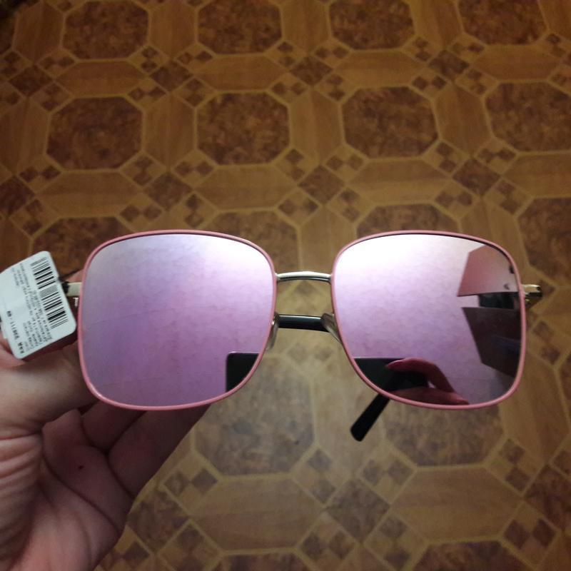 Очки, шикарные, розовые, зеркальные хамелеоны