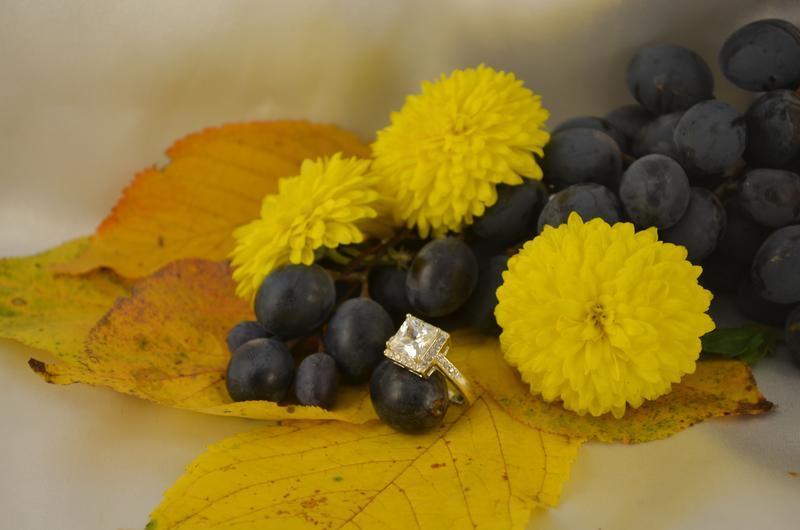 Кольцо с квадратным камнем из серебра