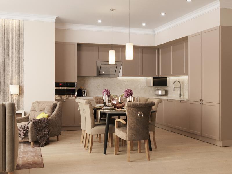 Дизайн проект квартиры 170 мкв