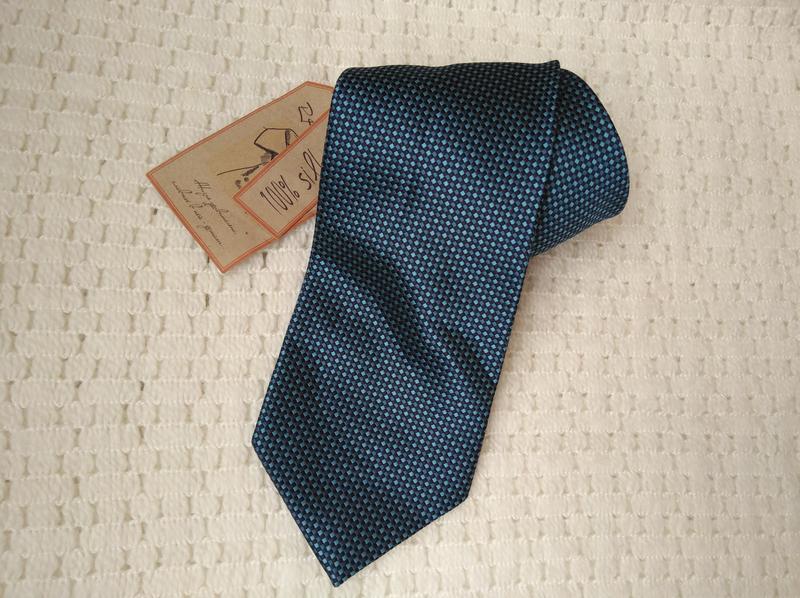 Фирменный галстук краватка 100% шелк оригинальный подарок мужчине