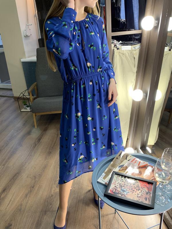 Платье миди в цветочный принт от h&m